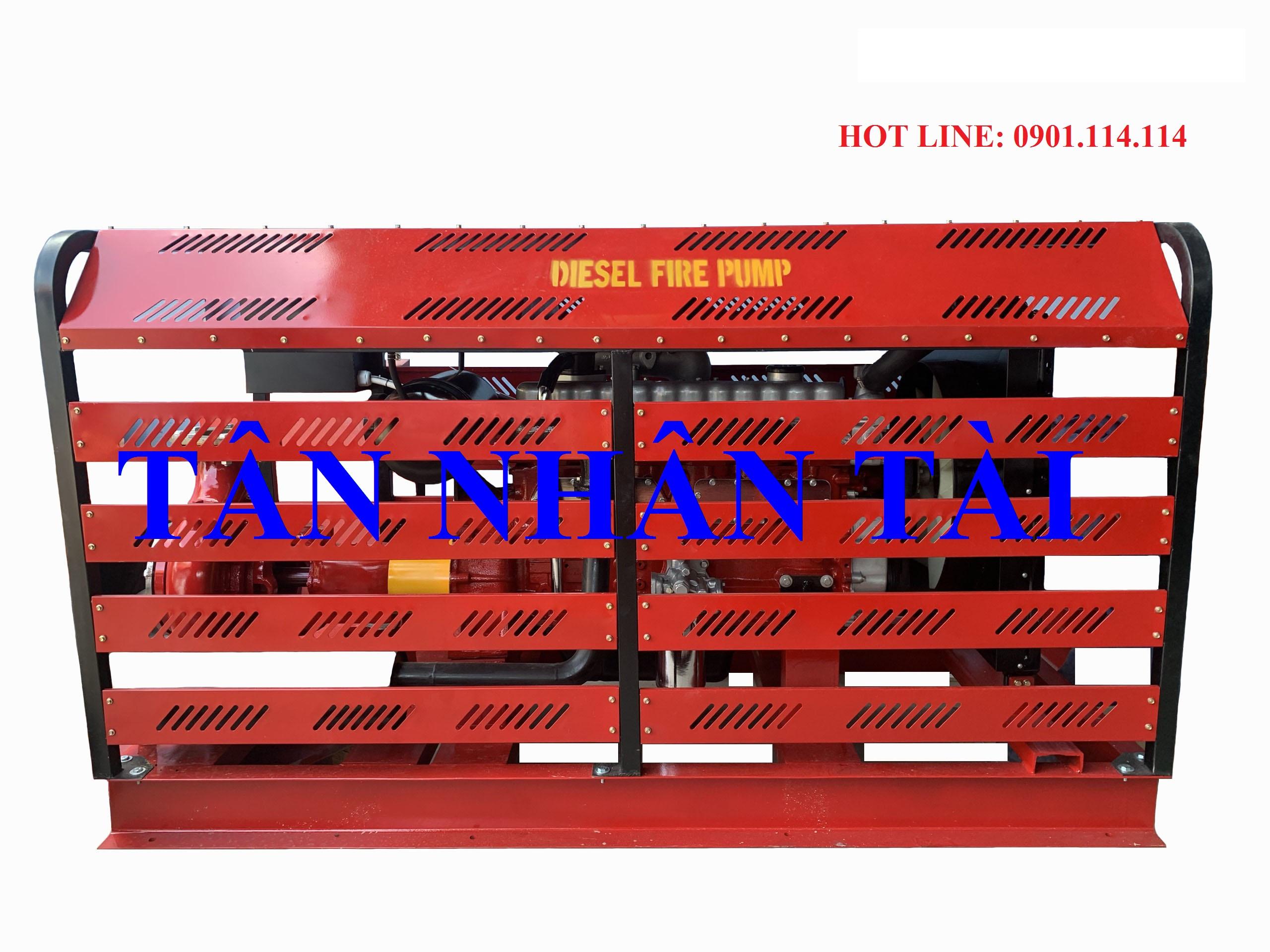 máy diesel power-vn 110kw có khung